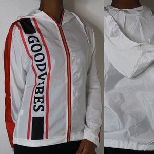 White with Red & Black Stripes Jacket